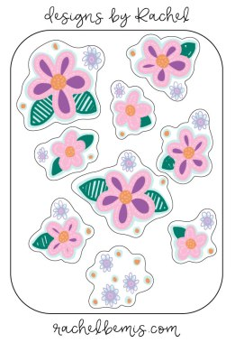 PinkPurpleFlower-Stickers-Web